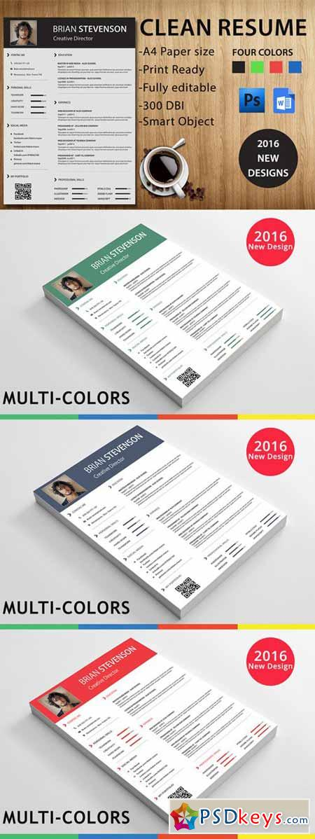 resume template 436693 free download photoshop vector stock image