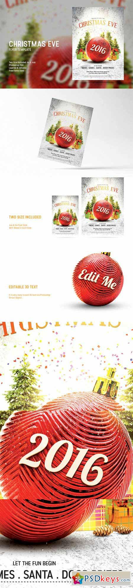 Christmas Eve Flyer Template 437515