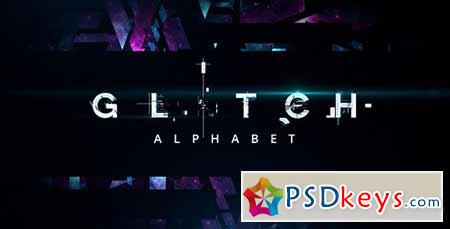 25081 Glitch Alphabet After Effects Projects