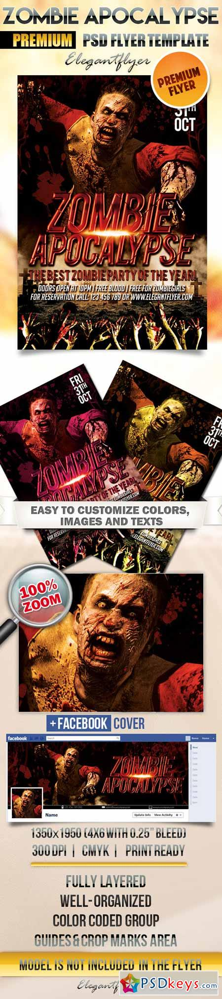 Zombie Apocalypse – Flyer PSD Template + Facebook Cover