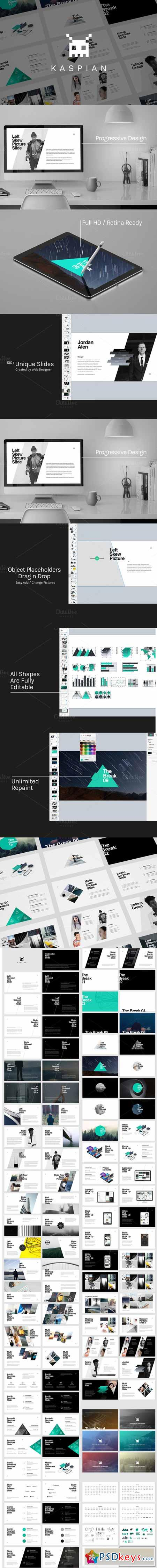 Kaspian - Unique PowerPoint Template 448095
