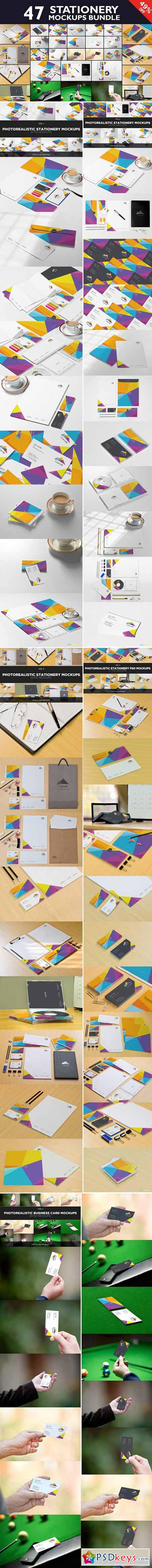 Beautiful Stationery Mockups Bundle 428661