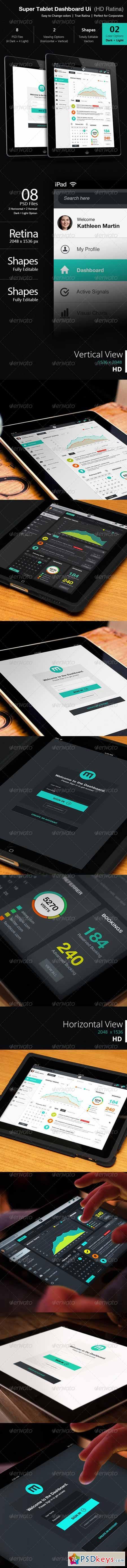 Super Tablet Dashboard Ui 5282199