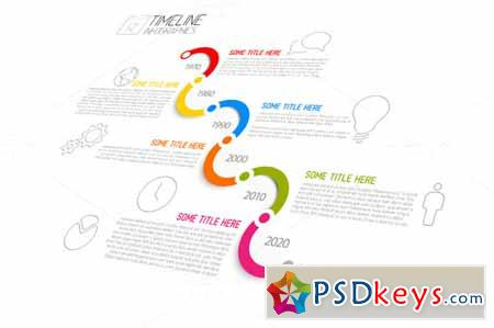 Vector Timeline Template 370004