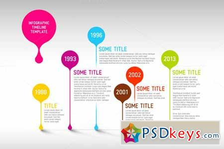 Vector Timeline Template 365425