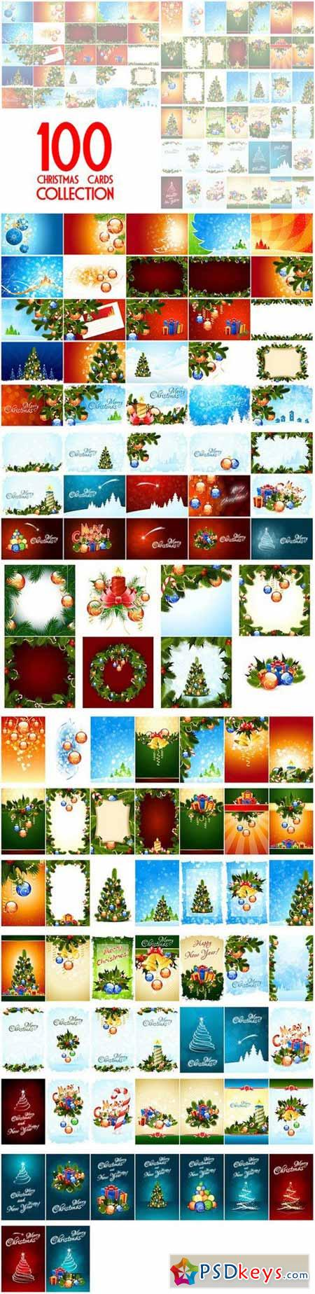 100 Christmas Cards Collection 449039