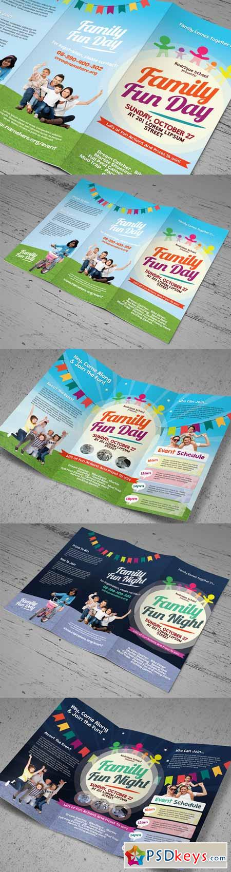 Family Fun Day Trifold Brochures 266828
