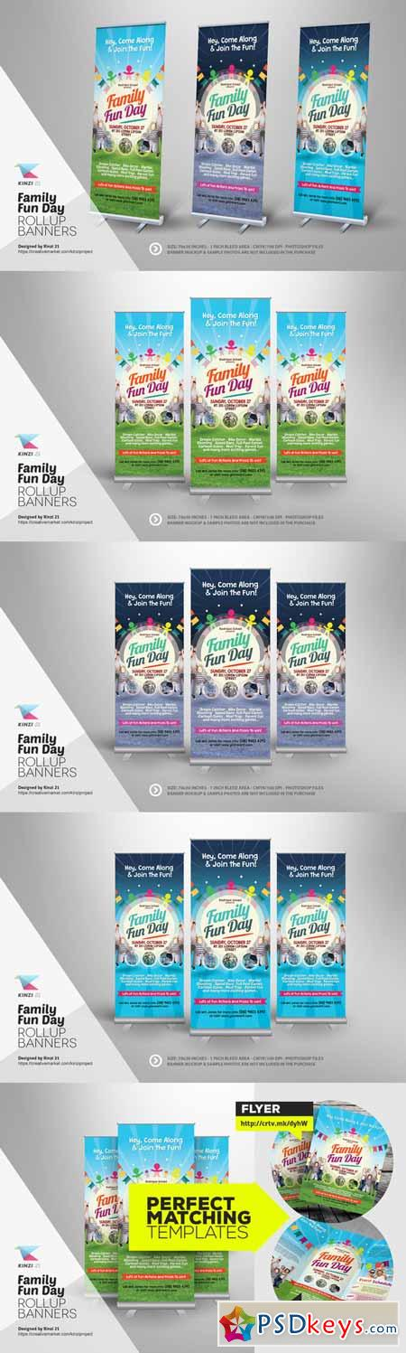 Family Fun Day Roll-up Banners 289353