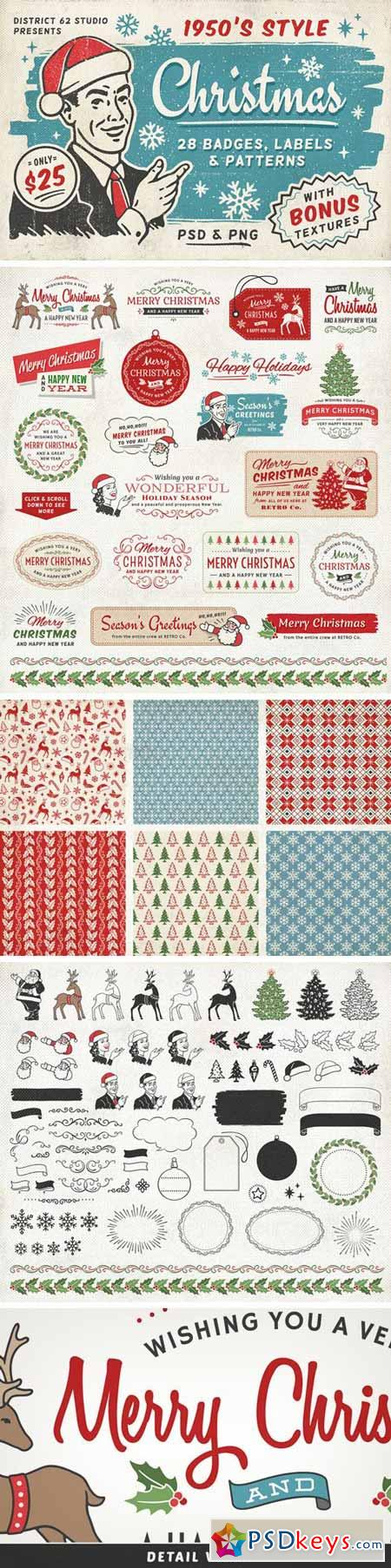 Retro Christmas Labels vol.2  418084