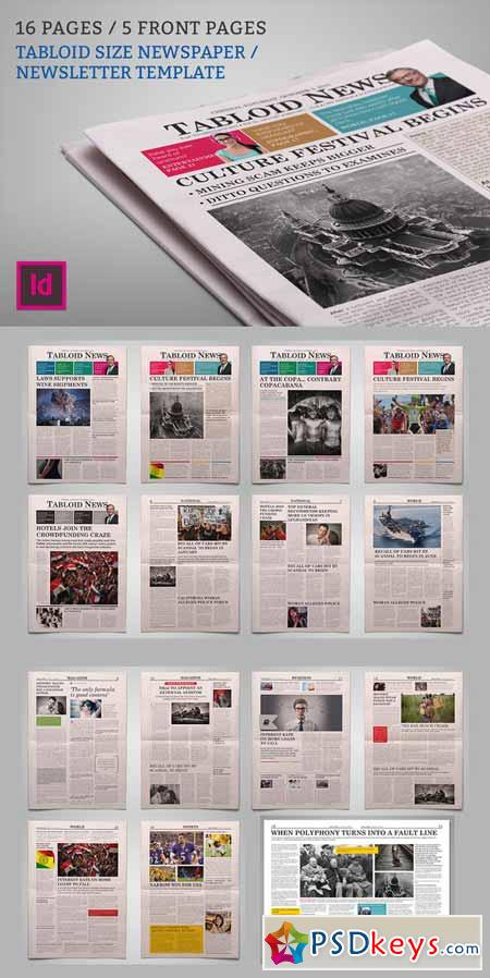 Newsletter Newspaper Template 450450 Free Download Photoshop