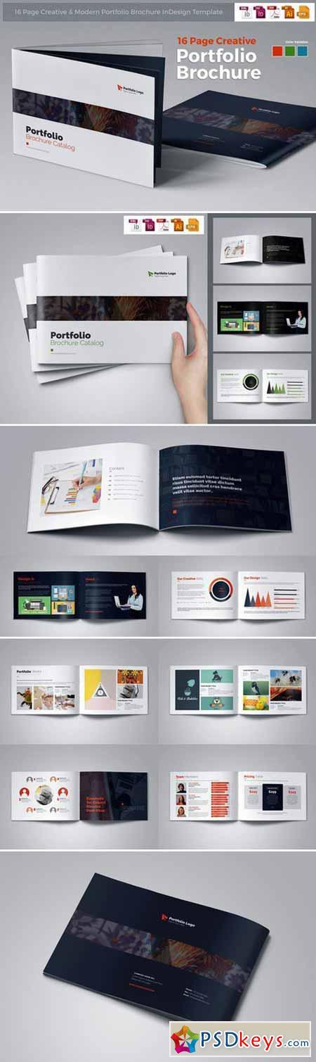 Portfolio Brochure InDesign 452915 » Free Download Photoshop Vector ...