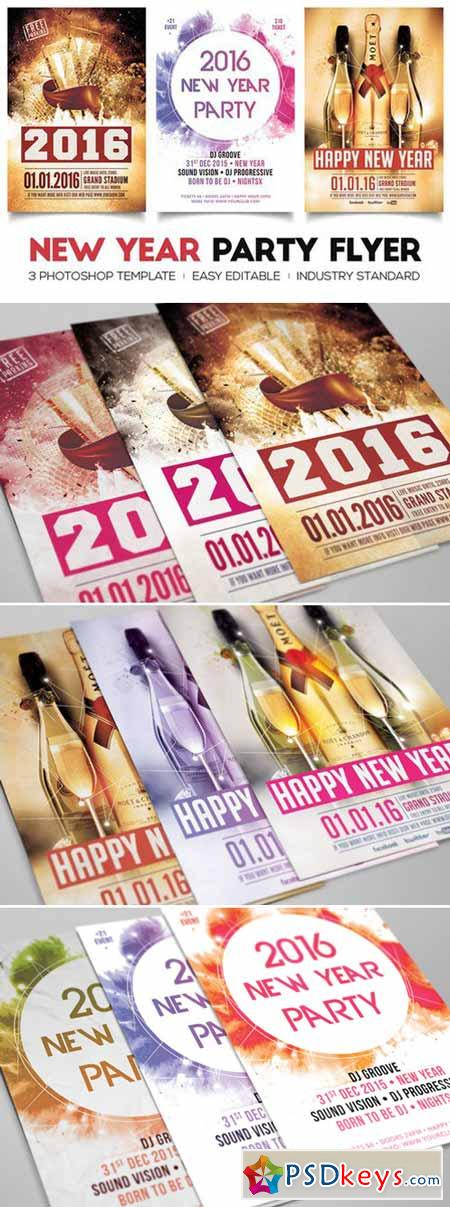 New Year Flyers Bundle 448959