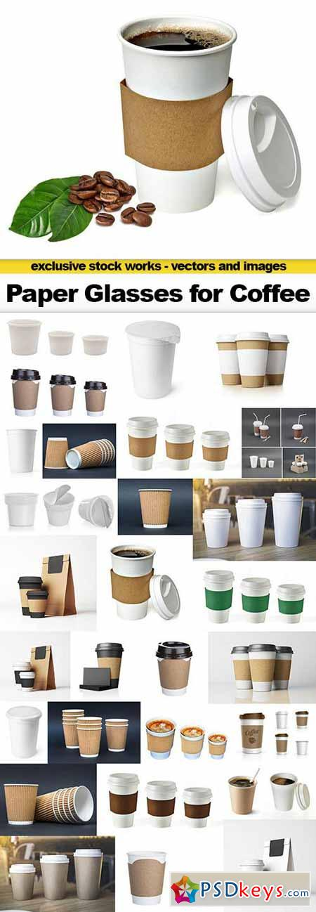 Paper Glasses for Coffee, 30x UHQ JPEG
