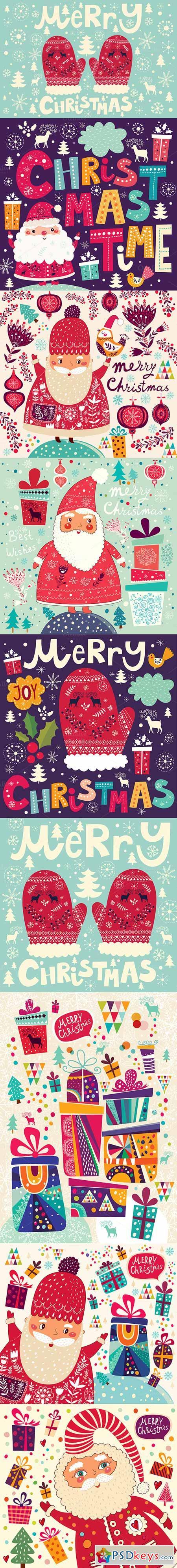 Bundle of Christmas illustrations 450897