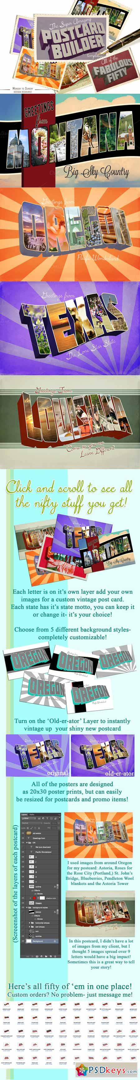HOLIDAY SALE 70%OFF Postcard Builder 451444