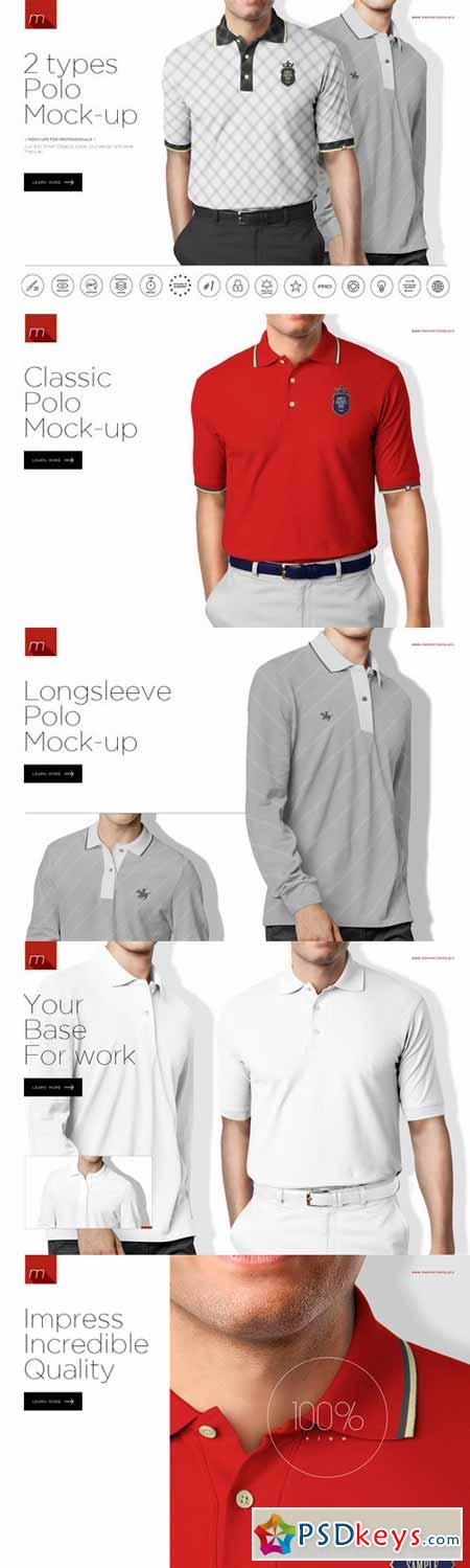 Polo shirt 2 types mock up 450547 free download for Different types of polo shirts