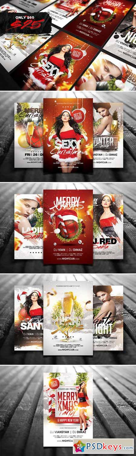 10 Christmas Flyers Bundle 445996