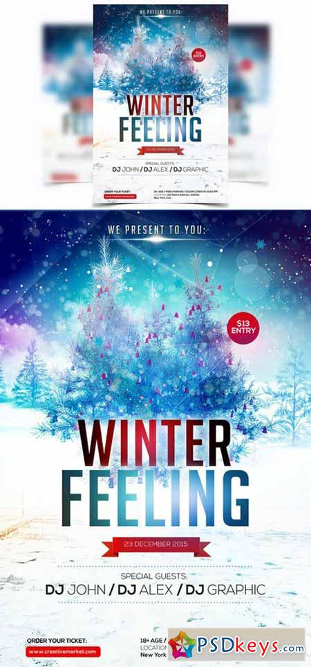 Winter Feeling - PSD Flyer 454152