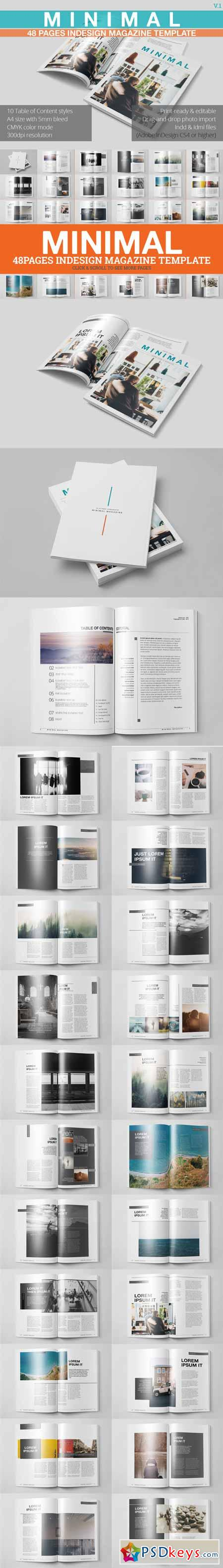 Minimal Magazine Template 453518 » Free Download Photoshop Vector ...