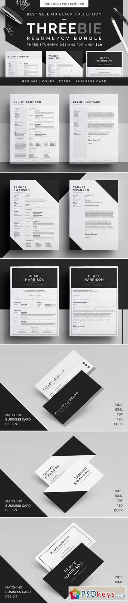 Resume CV - Threebie Bundle 2 433184