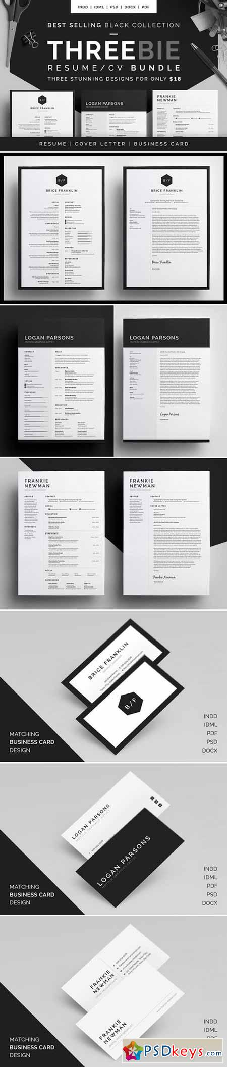 Resume CV - Threebie Bundle 3 433187