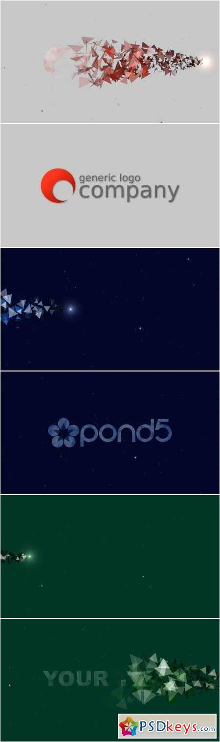 Triangle Particles Logo Reveal - After Effects Projects