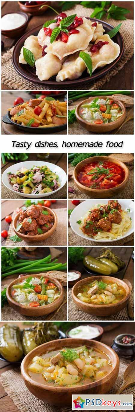 Tasty dishes, homemade food