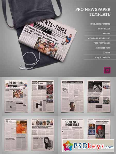 Pro Newspaper Template 453135 Free Download Photoshop Vector Stock