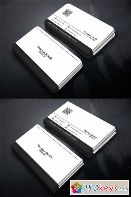 Simple Corporate Business Card 454734
