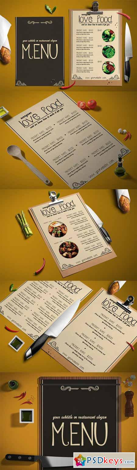 STYLISH food menu 452978