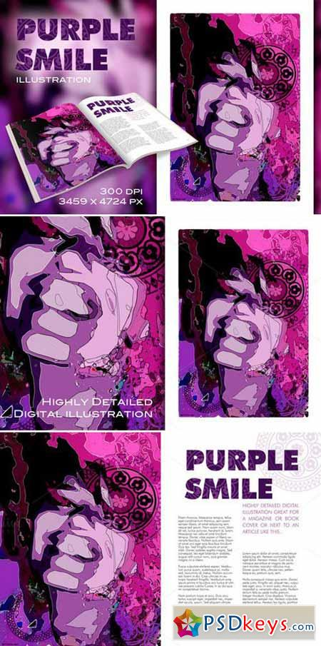 Purple Smile illustration 171630
