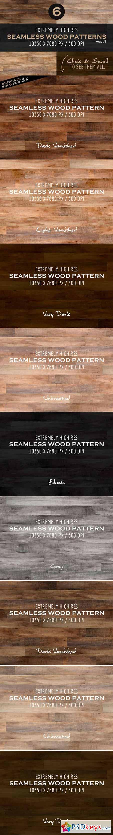 Extremely HR Seamless Wood Patterns 90793