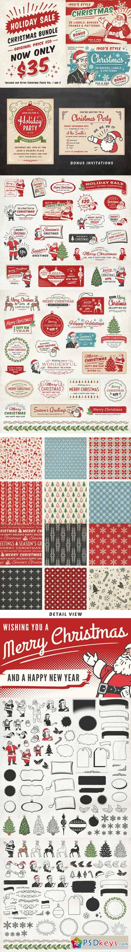 Retro Christmas Bundle 455442