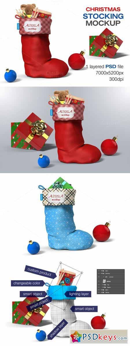 Christmas Stocking Mockup 457027
