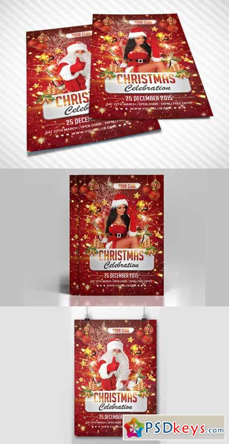 Christmas celebration flyer 456422