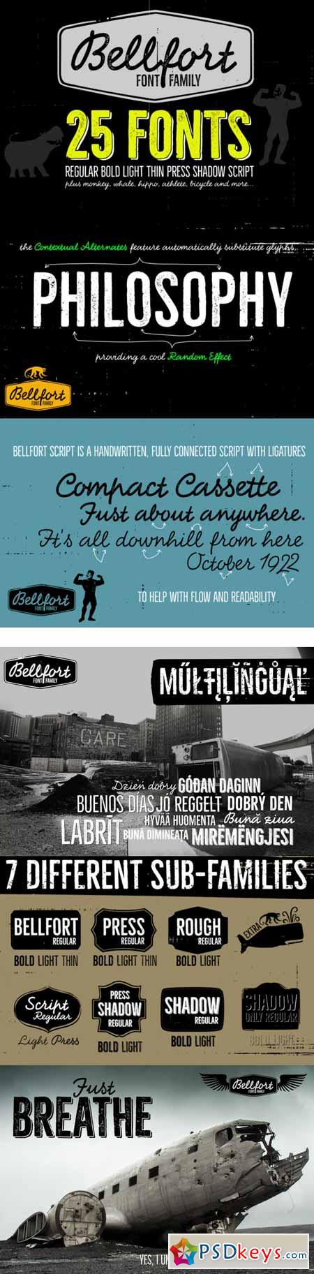 Bellfort family - 25 fonts 458033