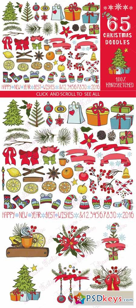 65 Christmas doodle decoration kit 455077