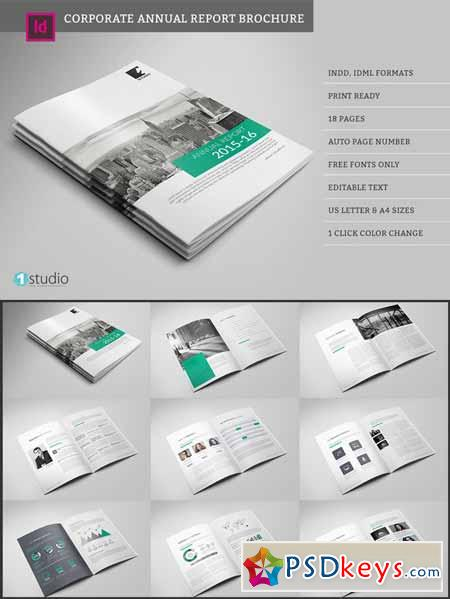 Annual Report Brochure   Free Download Photoshop Vector Stock