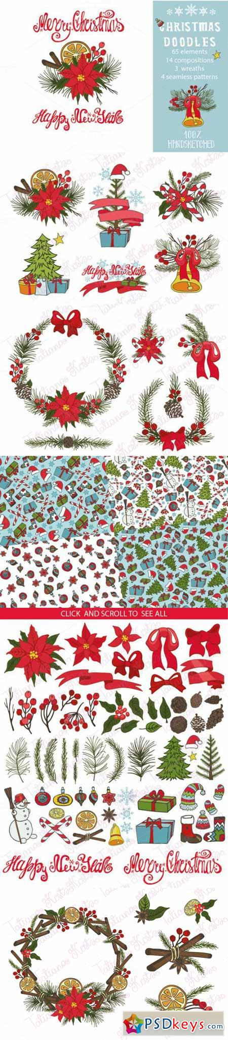 Christmas Doodle Decoration Kit02 456406