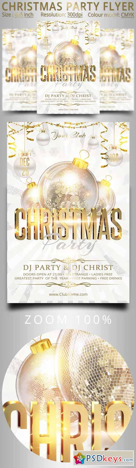 Christmas New Year Party Flyer 456403