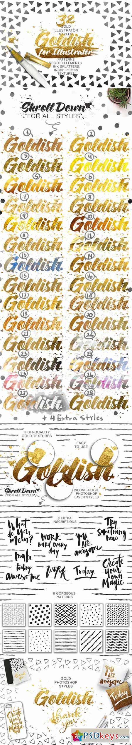Goldish Kit. For Illustrator+Extras 458359