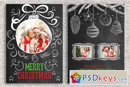 Christmas Card Template 459239 » Free Download Photoshop Vector