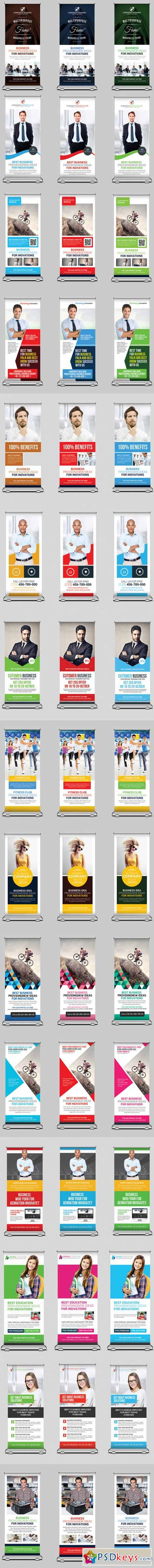 15 Business Rollup Banners Bundle 459064