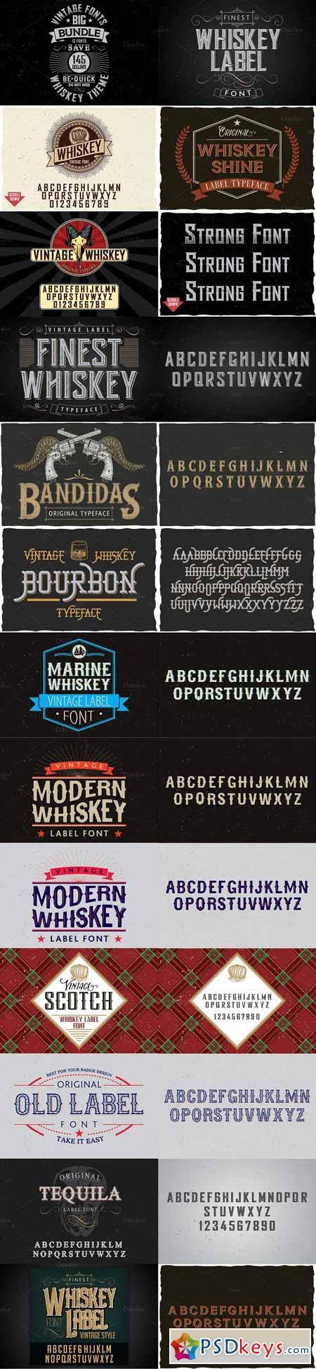 Whiskey Fonts BIG Bundle 460517