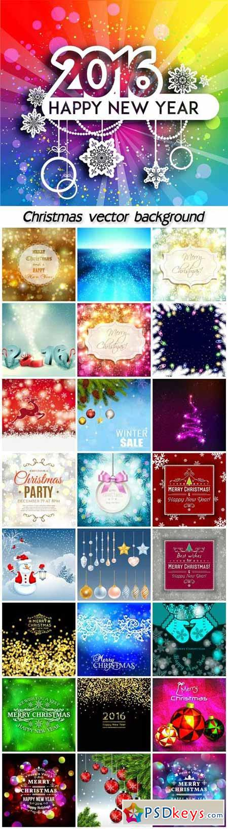 Collection of different vector Christmas