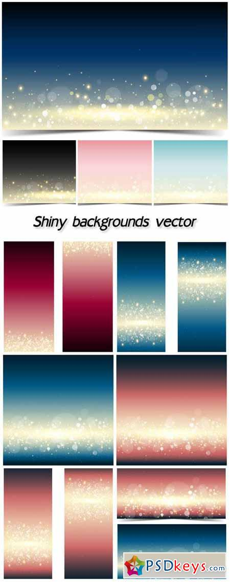 Colored shiny backgrounds vector