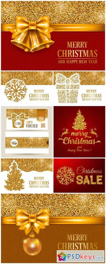 Luxury Christmas and New Year greeting card