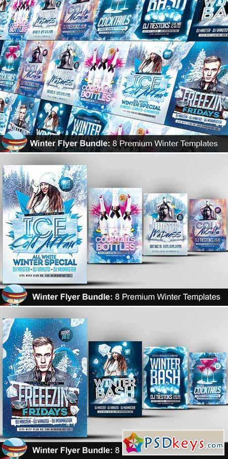 Flyerheroes winter bundle 421498 free download photoshop vector stock image via torrent for Flyerheroes free