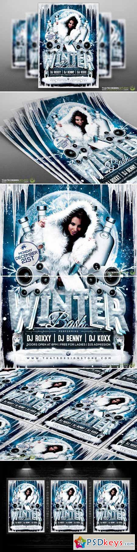Winter Bash Flyer Template 89865