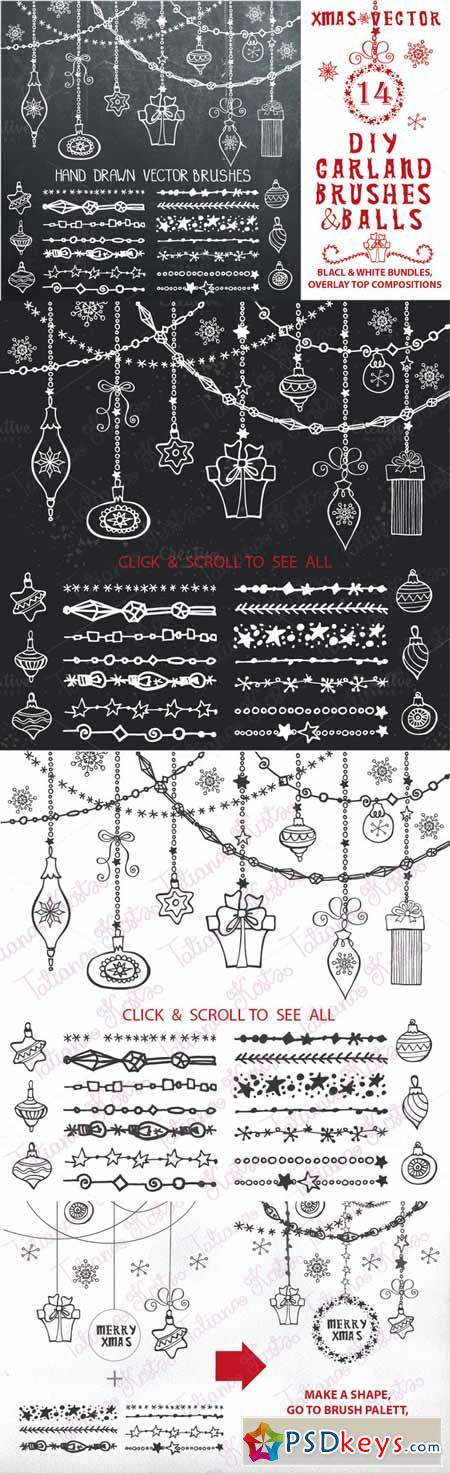 Christmas.DIY garland brushes set 462137